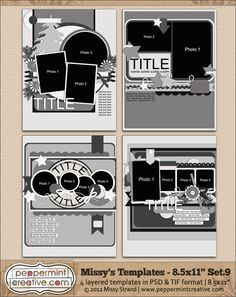 Missy's Templates Set.9 (8.5x11)