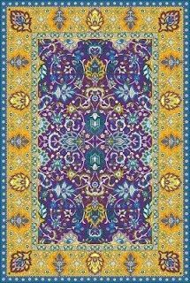 DUDU: Keshan 5660 purple-lemon 170 x 240cm