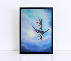 Flying dragon print, dragon painting, dragon wall art, fantasy print, fantasy wall art von TerraSomniaArt auf Etsy Dragon Print, Museum, Fantasy Kunst, Poster Making, Giclee Print, Poster Prints, Batman, Wall Art, Etsy