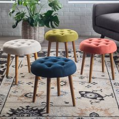 Place the Belham Living Darby Mid Century Modern Ottoman in your home for a versatile, vintage-inspired piece. You can kick your feet up or sit. Home Crafts, Diy Home Decor, Room Decor, Vintage Industrial Furniture, Rustic Furniture, Industrial Living, Luxury Furniture, Modern Ottoman, Tufted Ottoman
