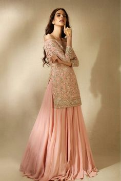 Colors & Crafts Boutique™ offers unique apparel and jewelry to women who value versatility, style and comfort. For inquiries: Call/Text/Whatsapp Indian Fashion Dresses, Dress Indian Style, Indian Designer Outfits, Asian Fashion, Designer Dresses, Fashion Clothes, Pakistani Dress Design, Pakistani Bridal, Pakistani Outfits
