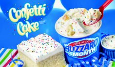 Just for my birthday this month Dairy Queen has come out with a delectable Confetti Cake Blizzard. Can't wait to try it!