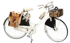 A bike Fendi é fabricada à mão e tem capas de couro para corrente, cadeado, GPS, garrafa e banco, além de baú e bolsa de pele, sai por US$ 9.500. Foto: Divulgação