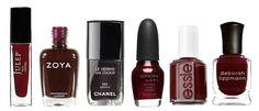 Fall 2012 Trend: Rich Burgundy Nails