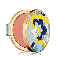 Estée Lauder's MadMen Collection limited edition  See-Thru Blush Compact. Case and carton are replicas of actual designs from Estée Lauder's Sixties-era collections. Color: Light Show