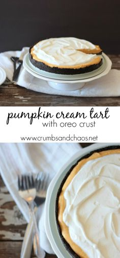 Pumpkin Cream Tart w