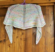 Hand knitted summer shawl - Knitted rainbow mini capelet -  One of a kind merino mini shawl in a silver grey colour with rainbow speckles https://www.etsy.com/uk/listing/514931591/hand-knitted-summer-shawl-knitted?utm_campaign=crowdfire&utm_content=crowdfire&utm_medium=social&utm_source=pinterest