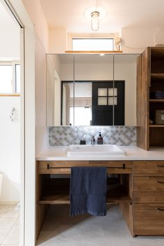 Washroom, Double Vanity, Interior, House, Image, Kitchens, Indoor, Home, Laundry Room