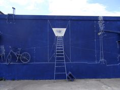 Taiwanese artists - installation of drawings and objects made to look like blueprint drawings.