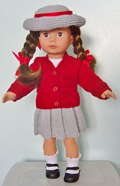 Amanda a PDF Pattern for a Basic School Set to fit most popular 18 and 19inch dolls.