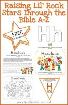 Free Bible Verse Printables Letter H