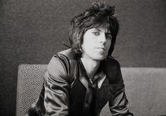 Keith Richards of the Rolling Stones at Atlantic records London 1974