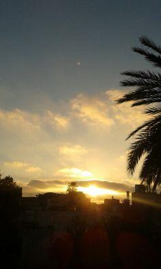 Couché du soleil..Quartier Derb Ghallef Casablanca-Maroc
