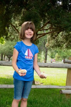 Sailboat Applique T-Shirt (template and tutorial via Aesthetic Nest)
