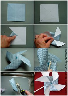 Make Your Own Pinwheels | Here is how to make your own paper Pinwheels: