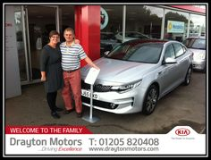Mr Maltby collecting his top of the range Optima from Adrian | by draytonkia