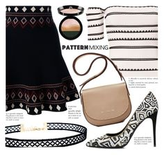 """""""Stay Bold: Pattern Mixing"""" by fattie-zara ❤ liked on Polyvore featuring Torn by Ronny Kobo, Alexander McQueen, Elizabeth and James, Giorgio Armani, LULUS, Salvatore Ferragamo and patternmixing"""