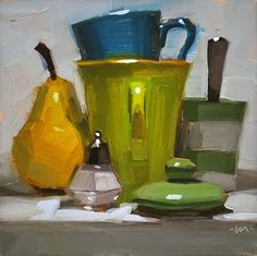 Carol Marine - her still lifes usually involve fruit or veggies and they are pretty fantastic (love the vivid color and brushstrokes in this one!)
