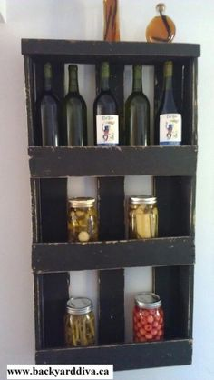 Perfect use for one of the smaller #pallets #palletshelf #recycle #design #reuse #eco #storage #spacesaving