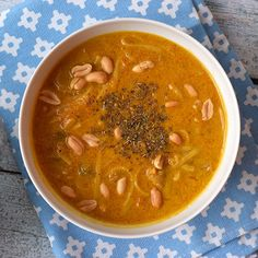 A delicious pumpkin noodle soup. Low FODMAP, gluten-free, lactose-free and vegan.