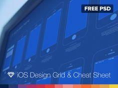 Free - iOS Design Grid & Cheat Sheet Mobile Web Design, Ios Design, Web Design Trends, Graphic Design, Ui Prototyping, Ui Web, Education And Training, Ui Inspiration, User Interface Design
