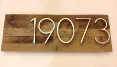 Rustic Address Plaque made from Reclaimed door MadeWithBeerInHand