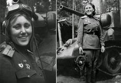Mariya Vasilyevna Oktyabrskaya  was the first female tanker to be awarded the Hero Of The Soviet Union award; the Soviet Union's highest award for bravery during combat.