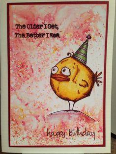Happy Birthday Card. #CrazyBird #BirdCrazy 2015