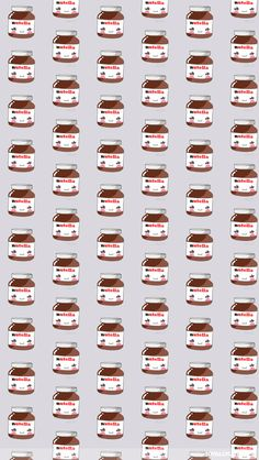 Cite Kawaii Nutella Jars iPhone Wallpaper - Kawaii Wallpapers - Wallpaper Zone