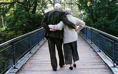 Old couple that still hold hands