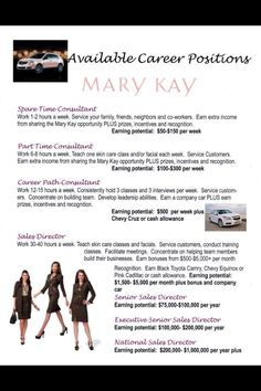 Mary Kay  As a Mary Kay beauty consultant I can help you, please let me know what you would like or need. www.marykay.com/rspencer