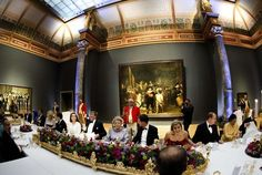 Queen Beatrix last dinner at the Rijksmuseum before her abdication