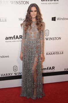 Izabel Goulart in Valentino attends the 5th Annual amfAR Inspiration Gala on April 10, 2015
