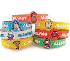 Food allergy bracelets for kids