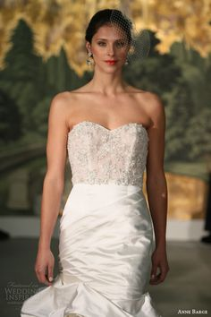 anne barge bridal spring 2014 dahlia strapless mermaid wedding dress close up