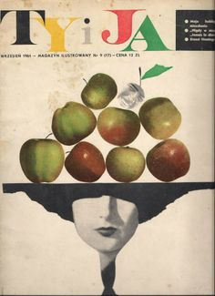1961 Everyday surrealism. Ty i Ja (You and I) luxury magazine, designed by Roman Cieslewicz.