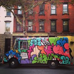 """""""One of many moving murals in NYC.""""  Carroll Gardens"""