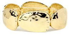 Oval Disk Gold Bracelet.  Item #PB0106OGD  Available at Impulse Gifts 812.481.2880 We ship daily.   https://www.facebook.com/ImpulseJasper