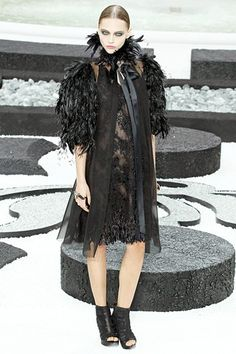 Chanel Spring 2011: Conservative Chic and Feathered Vampires | Buzznet