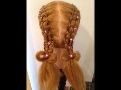 Peinado Para niña-Trenza Pasacinta Doble - Hairstyle for girl The Double Zipper Braid - YouTube