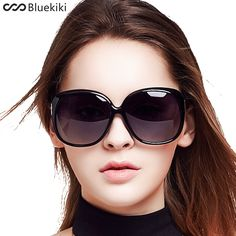 KIKI Women Polarized Sunglasses Retro Big Round PC Frame Brand Design Black  Sun Glasses Luxury Ladies 0605f1ee4c