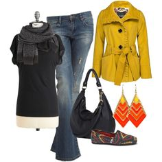 yellow jacket by cswope on Polyvore