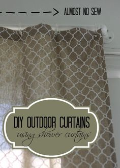 How I Made My Dream Pottery Barn Outdoor Curtains From A Shower Curtain