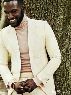 The Woman Men Adore - Kofi Siriboe: InStyle November 2016 Billy Ballard Fashion Mode, Look Fashion, Mens Fashion, Fashion Tag, Fashion 2016, Men In Black, Handsome Black Men, Black Men In Suits, Handsome Guys