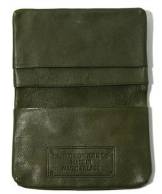 VEGETABLE TANNED LEATHER CARD CASE - 12-13 F/W EDITION