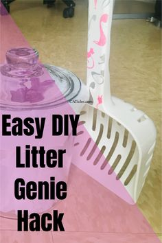 Want to keep the litter box area clean? Check out this easy DIY litter genie hack! The real litter genie is plastic. Plastic traps bacteria even with regular washing! You should also replace plastic at least once yearly. That's no good for your wallet or the environment! Use this more sanitary option instead. This DIY litter genie is a one-time purchase. It's easier to use and easier to clean. That means your cat's litter box area will stay clean and stink free! Check out this quick video today! Best Cat Litter, Litter Box, Living With Cats, Diy Cat Toys, Cat Hacks, Plastic Plastic, Cat Garden, Cat Decor, Cat Crafts