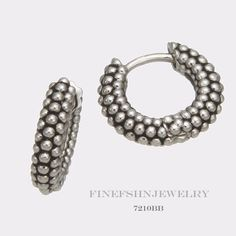 Authentic Sterling Silver Ti Sento Milano Bubble Hoop Earrings 7210BB