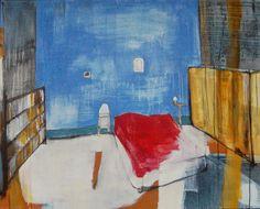 Cathrine Boman - Hemingways soverom, Acryl på lerret, 120 x 100 cm