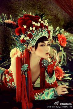 Chinese girl elaborate dress (刀马旦)