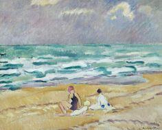 Three Figures on the Beach. Louis Valtat